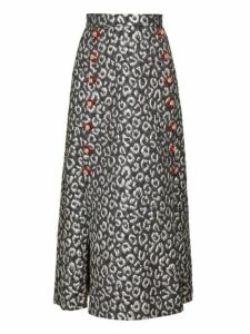 Dolce & Gabbana - Leopard Print Brocade Midi Skirt - Womens - Leopard