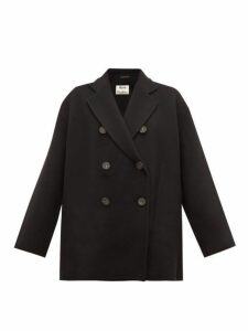 Acne Studios - Odine Double-breasted Wool Peacoat - Womens - Black