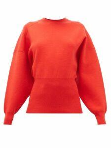 Acne Studios - Kaphne Blouson Sleeve Slim Fit Sweater - Womens - Red