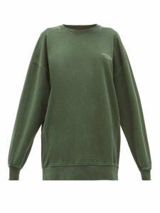 Acne Studios - Wora Logo Embroidered Cotton Sweatshirt - Womens - Khaki