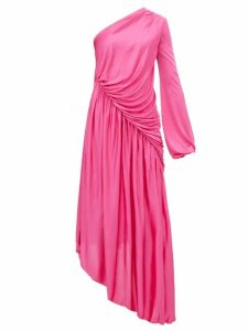 Halpern - Asymmetric Gathered Dress - Womens - Pink