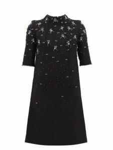 Goat - Alexa Crystal Embellished Wool Dress - Womens - Black