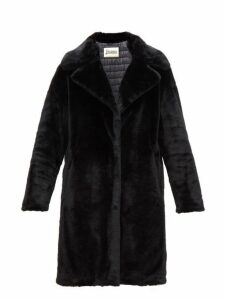 Herno - Padded Faux Fur Coat - Womens - Black