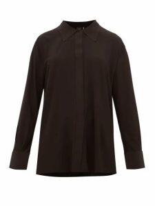 Norma Kamali - Boyfriend Stretch Jersey Shirt - Womens - Black