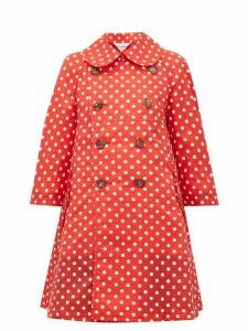 Comme Des Garçons Girl - Polka Dot Print Mac Coat - Womens - Red White