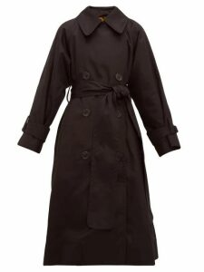 Marc Jacobs - Belted Cotton Gabardine Trench Coat - Womens - Black