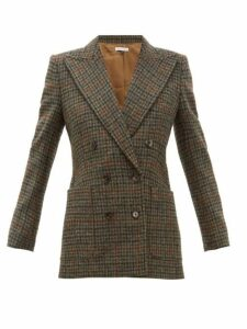 Bella Freud - Bianca Double Breasted Wool Tweed Blazer - Womens - Brown Multi