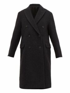 Joseph - Arles Double Breasted Alpaca & Wool Overcoat - Womens - Black