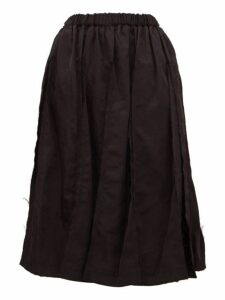 Comme Des Garçons Comme Des Garçons - Raw Edge Panelled Twill Skirt - Womens - Black