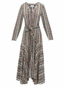 Apiece Apart - Pacifica Belted Checked Dress - Womens - Multi
