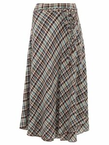 Apiece Apart - Rosehip Checked Rayon Midi Skirt - Womens - Multi