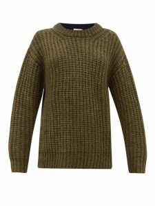 See By Chloé - Colour Block Dropped Sleeve Sweater - Womens - Khaki Multi