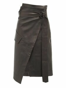 Petar Petrov - Rita High Rise Leather Skirt - Womens - Black