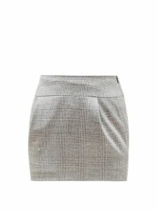 Alexandre Vauthier - Prince Of Wales Check Skirt - Womens - Grey Multi