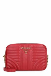 Prada Prada Diagramme Quilted Leather Shoulder Bag