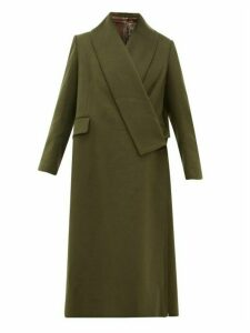 Golden Goose - Oversized Wrap Around Coat - Womens - Khaki