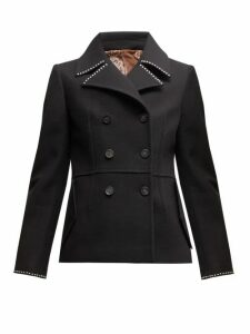 Golden Goose - Studded Double Breasted Pea Coat - Womens - Black