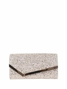 Jimmy Choo Silver Emmie Clutch