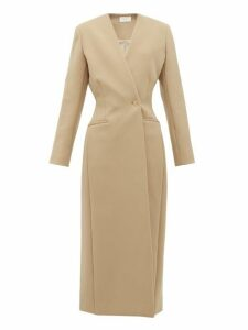 The Row - Nadine Collarless Twill Coat - Womens - Camel
