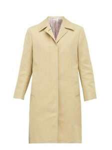 Thom Browne - Single Breasted Cotton Coat - Womens - Beige