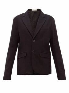 La Fetiche - Annie Single Breasted Cotton Blend Blazer - Womens - Black