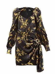 Dodo Bar Or - Mona Fil Coupé Velvet Mini Dress - Womens - Black