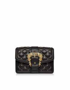 Versace Jeans Couture Quilted Nappa Leather Crossbody Bag W/ Buckle