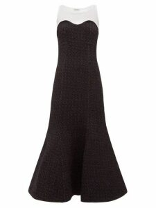 Vika Gazinskaya - Sleeveless Trumpet Dress - Womens - White Black