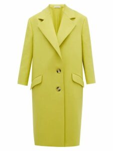 Vika Gazinskaya - Single Breasted Wool Coat - Womens - Yellow