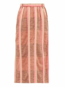 Ace & Jig - Sasha Striped Cotton Midi Skirt - Womens - Beige Multi
