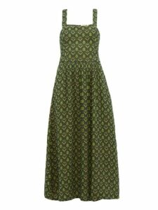 Ace & Jig - Willa Cross Over Cotton Dress - Womens - Green Multi