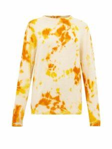 The Elder Statesman - Tie Dye Cashmere Sweater - Womens - Orange Multi
