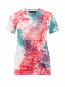 Germanier - Recycled Crystal Logo Tie Dyed Cotton T Shirt - Womens - Multi