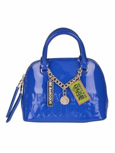 Versace Jeans Couture Be Baroque Plaque Embossed Logo Tote
