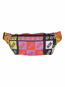 GCDS Multiple Logo All-over Print Shoulder Bag
