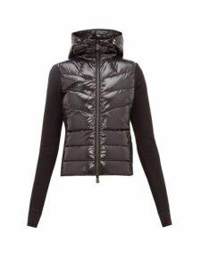 Moncler Grenoble - Fleece Sleeved Padded Jacket - Womens - Black