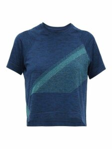 Lndr - Comet Cropped Seamless Jersey T Shirt - Womens - Blue