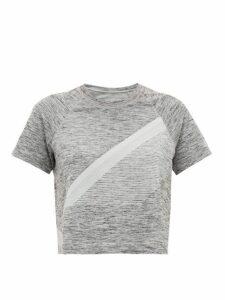 Lndr - Comet Cropped Seamless Jersey T Shirt - Womens - Grey