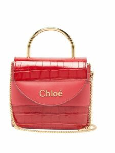 Chloé - Aby Lock Crocodile Effect Leather Bag - Womens - Red