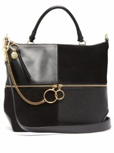 See By Chloé - Emy Large Suede And Leather Tote Bag - Womens - Black