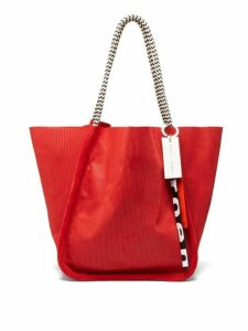 Proenza Schouler - Large Corduroy Effect Suede Tote Bag - Womens - Red