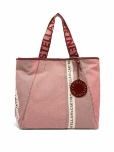 Stella Mccartney - Patchwork Logo Jacquard Canvas Tote Bag - Womens - Pink Multi