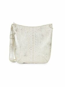 Python Leather Crossbody Bag
