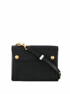 Thom Browne Combo Leather Mail Envelope Bag - Black