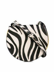 Sara Battaglia zebra print cross body bag - Black