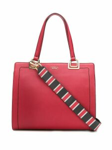 Tosca Blu contrast stitching shoulder bag - Red