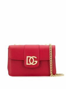 Dolce & Gabbana logo plaque shoulder bag - Red