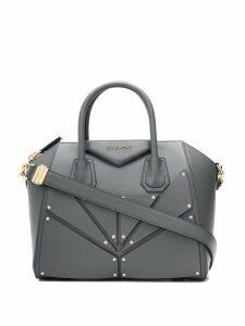 Givenchy small Antigona bag in patch leather - Grey