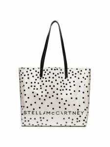 Stella McCartney small spotted tote bag - White