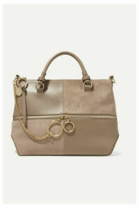 See By Chloé - Emy Leather And Suede Shoulder Bag - Gray